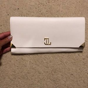 JLo white clutch. Super cute for a night out